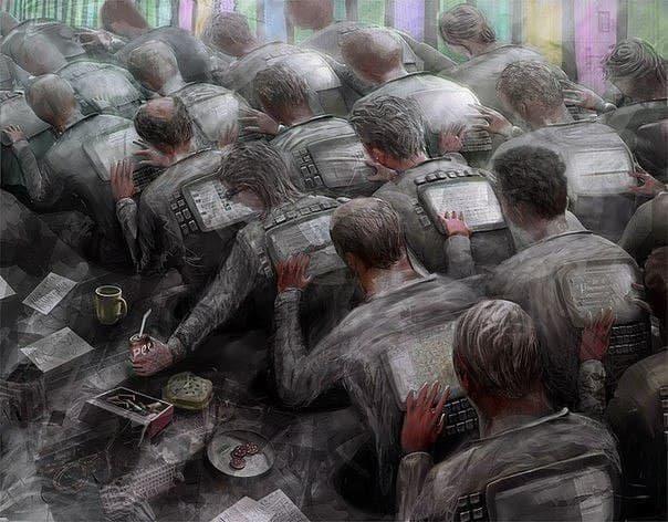 Становясь частицей организованной толпы, человек спускается на несколько...
