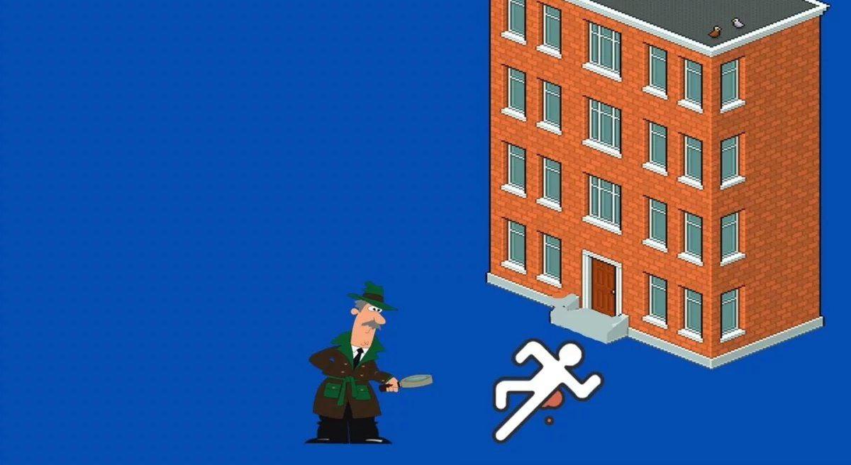 """Задача: """"Самоубийство или нет""""   Детективы прибыли на место происшествия, там..."""