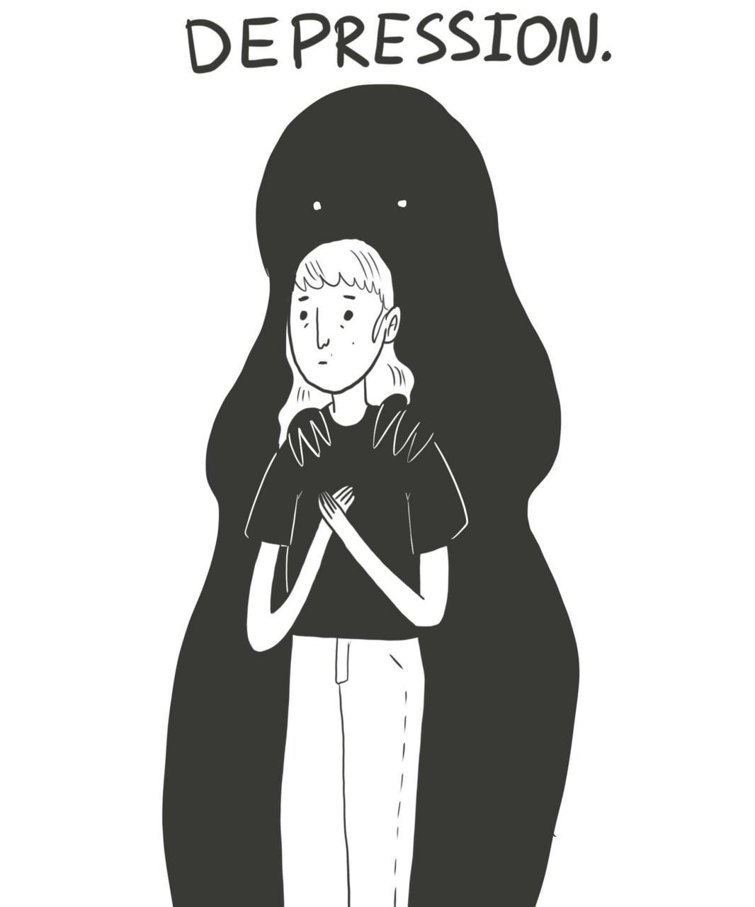 Депрессивное расстройство  Спешу поделиться с вами важным и классным комиксом...