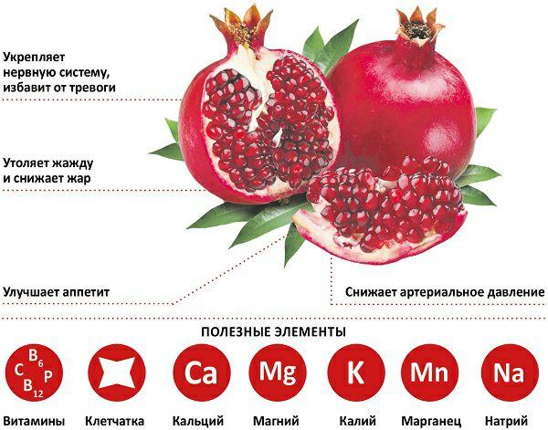 Ешьте гранат — универсальный фрукт.   Он повышает гемоглобин, снижает риск...